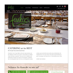 Webseite Farkas-Catering